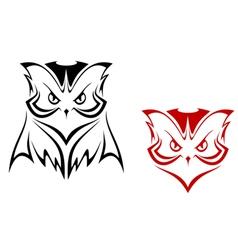owl mascot vector image vector image