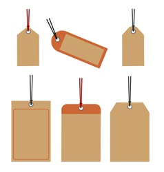 Price tags retro design vector image
