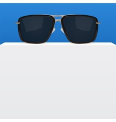 Abstract background with realistic sunglasses vector image