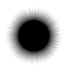 abstract radial burst black star explosion vector image