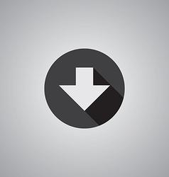 Arrow down symbol flat vector image