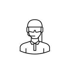 Avatar soldier outline icon signs and symbols can vector