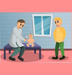 baby pediatrician concept banner cartoon style vector image