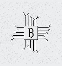 bitcoin virtual money design vector image