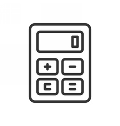 Calculator outline icon vector image
