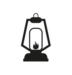 camp light icon vector image
