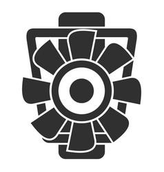 Car motor ventilator icon simple style vector