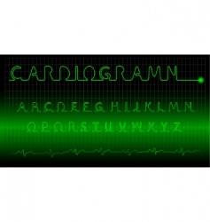 cardiogram alphabet vector image