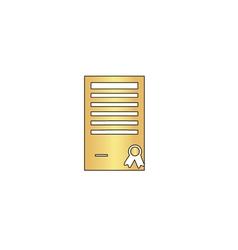 Certificate computer symbol vector image