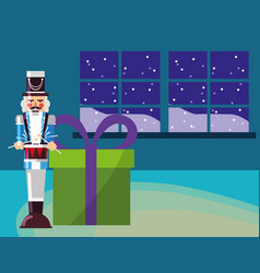christmas nutcracker design vector image