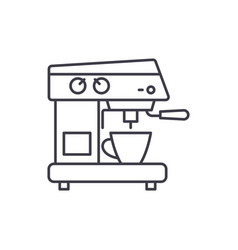coffee machine line icon concept coffee machine vector image