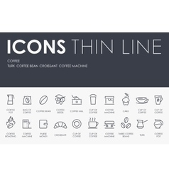 Coffee Thin Line Icons vector image