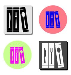 cutlery flat icon vector image