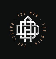 dad man myth legend monogram logo vector image