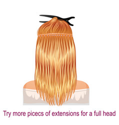 Detailed step by step for hair extension vector