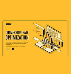 digital marketing service isometric website vector image