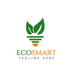 Eco smart logo template design vector