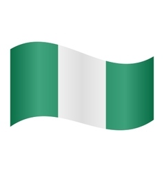 Flag of Nigeria waving vector image