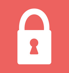flat heart lock icon vector image