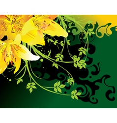 floral elements vector image vector image