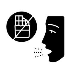 Food allergy glyph icon vector
