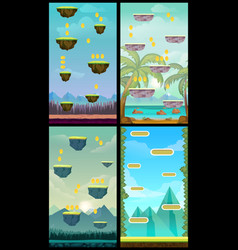 game background vertical tileable wallpaper vector image