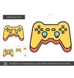 Game pad line icon vector image