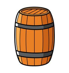 graphic a wooden barrel vector image