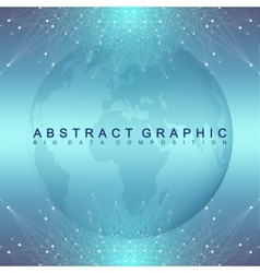 Graphic abstract background communication vector image