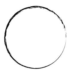 Grungy brush circle brushstroke jiddd vector