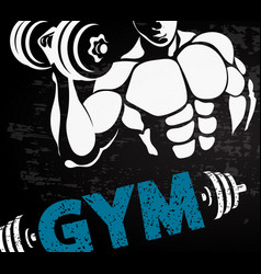 Gym sport design vector