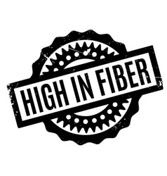 High in fiber rubber stamp vector
