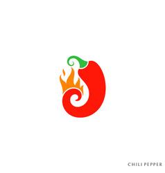 hot chili pepper vector image