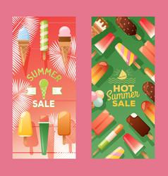 Ice cream store banner vector