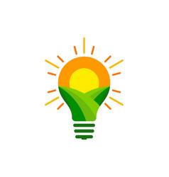 Idea farm logo icon design vector