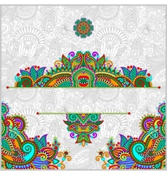 Invitation card with neat ethnic background vector