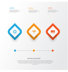 journey icons set collection of direction vector image