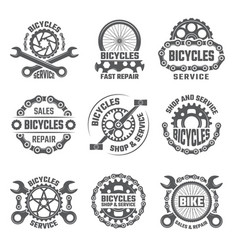 Labels template design with gears chains and vector