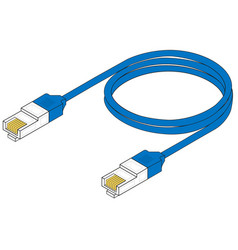 network cable vector image