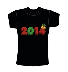 New years t-shirt design vector image vector image