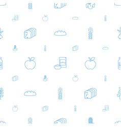 nutrition icons pattern seamless white background vector image