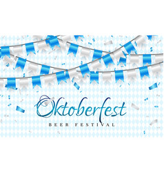 october fest celebration party banner blue and vector image