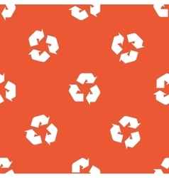 Orange recycle pattern vector image