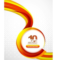 Orange wave background vector