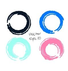 Painted circles set vector image