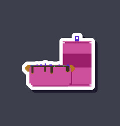 Paper sticker on stylish background hotdog and vector