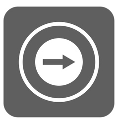 Right Rounded Arrow Flat Squared Icon vector
