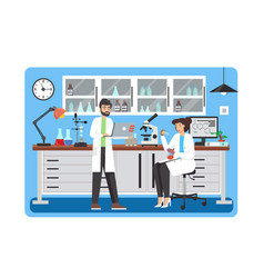 Science lab flat style design vector