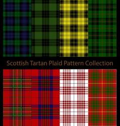 Scottish clans tartan plaid collection vector