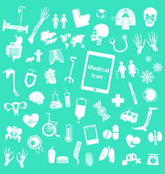 set medical icon vector image